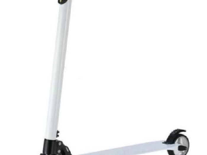 trottinette electrique carbone carbon fiber e scooter blanche a