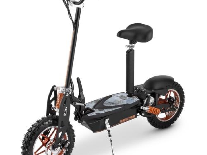 scooter electrique pliable roues cross trottinette avec siege moteur 36v 1000w velo electrique. Black Bedroom Furniture Sets. Home Design Ideas
