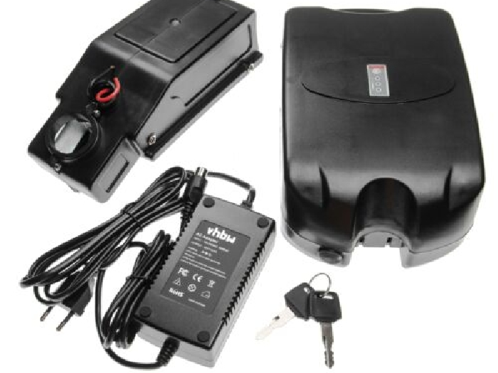 Batterie de tube de selle e-bike 8.8Ah 36V noir + chargeur + holder