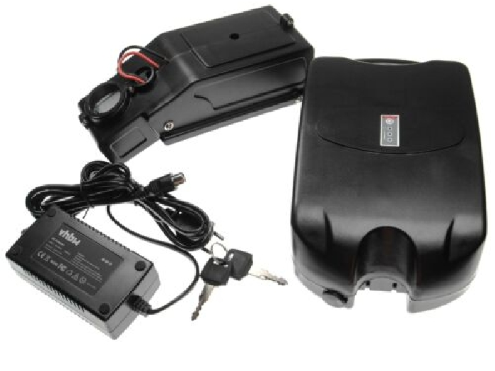 Batterie de tube de selle e-bike 8.8Ah 48V noir + chargeur + holder