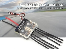 FLIPSKY Dual FSESC V4.2 100A ESC for Skateboard RC Car Drone E-bike E-scoo FR
