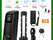 48V10Ah Ebike Batterie Vélo Electrique Lithium Bicycle Battery+Chargeur+USB Port