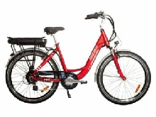VELO A ASSISTANCE ELECTRIQUE CARLINA rouge 13A 28