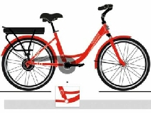 VELO A ASSISTANCE ELECTRIQUE NEOMOUV FACELIA orange 36V 13A