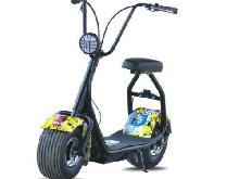 Scooter electrique Coco Junior - 500W - 48V - 12Ah - Multigraffiti