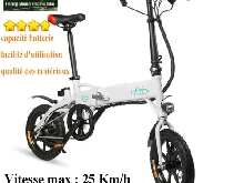 25KM/H LCD Digital Vélo électrique Pliable E-Bike 250W motor LED 7.8Ah Max?40km