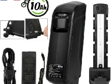 48V10Ah EBike E-Bike Batterie Vélo Electrique Battery+USB Port Portable Chargeur