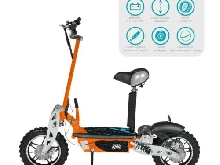 Trottinette Electrique 1000Watts Evo+ ? Scooter Electrique Pliable Orange