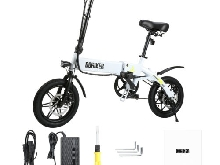 DOHIKER 14'' 250W E Bike Vélo Pliant électrique With Batterie 7.5Ah Li-ion USB