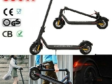 Smart Trottinette Électrique Pliable 350W 10.4Ah LED E-scooter patinette Noir