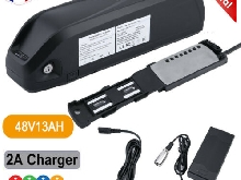 E-Bike 48V 13Ah (624Wh)Batterie Li-ion Kit Conversion vélo électrique+ Chargeur