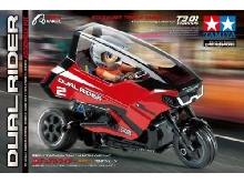 Tamiya Dual Trike T3-01 brushed 1:8 Moto RC électrique Tricycle propulsion