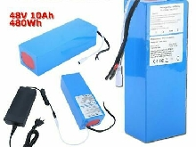 48V 10A 480W électrique E-Bike Batterie portable Li-Ion Pack Anti-vol FR nn