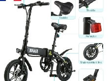 14''Pliable Vélo Electrique e-Bike 7.5Ah Li-ion Batterie 25km/h 250W Disc freins
