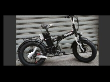 VELO ELECTRIQUE FAT BIKE 500W PLIABLE ACCELERATEUR VTT GROSSE BATTERIE 16AH